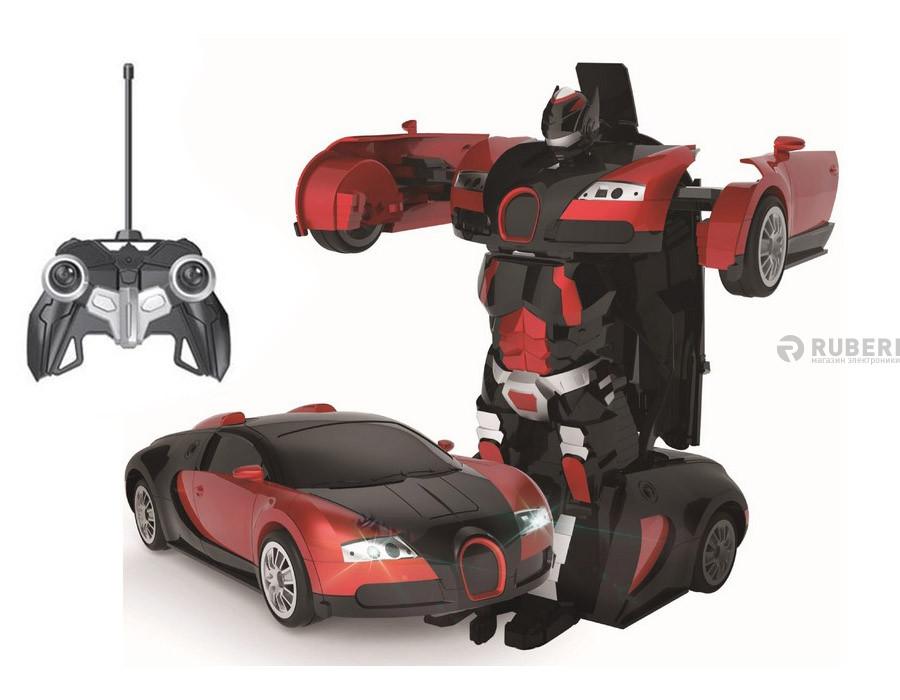 Fd138x машина трансформер bugatti радиоуправляемая (красная)