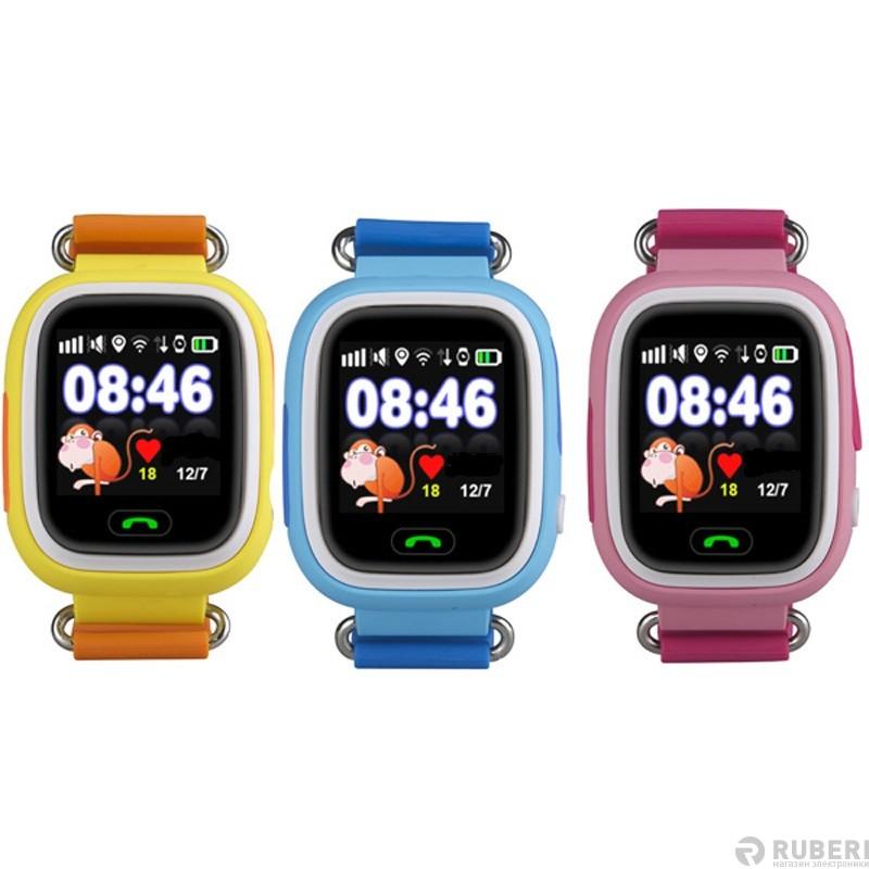 e3c7e90cbb74 Детские часы Smart Baby Watch Q80 оранжевые с GPS трекером - купить в  Ruberi   Интернет-магазин электроники